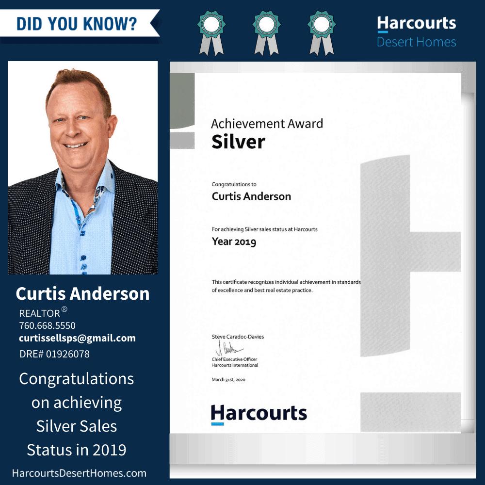 Curtis Anderson Silver Sales Status Award final