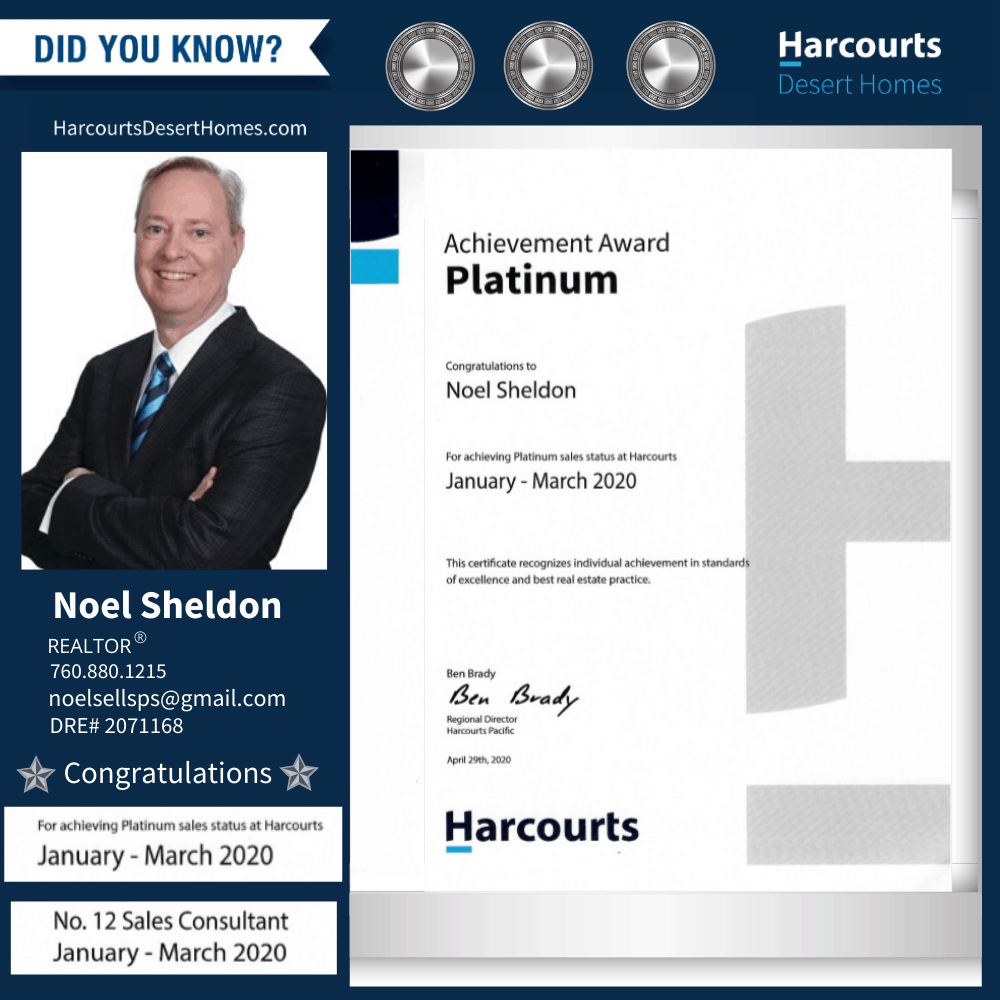 Noel Sheldon Platnum Sales Status Award xx